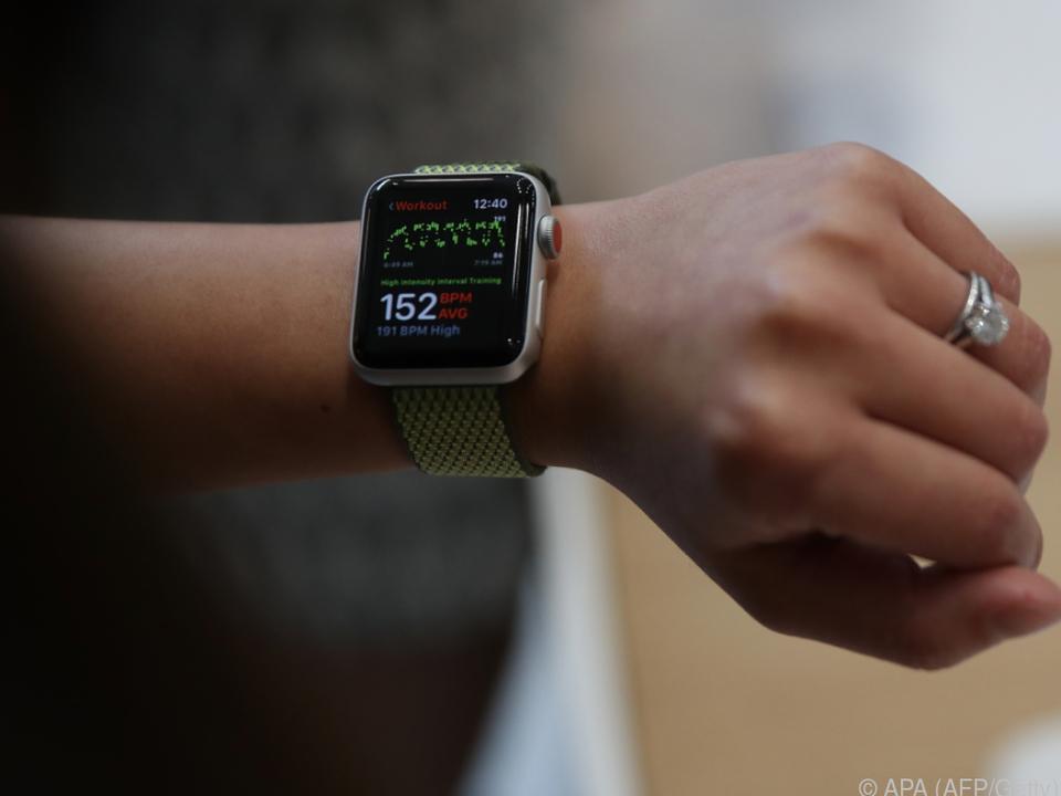 Beim Training liefert die Apple Watch wertvolle Daten