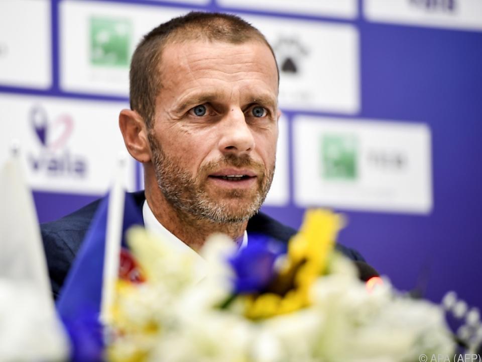 UEFA-Präsident Ceferin vermisst Unterstützung der Politik