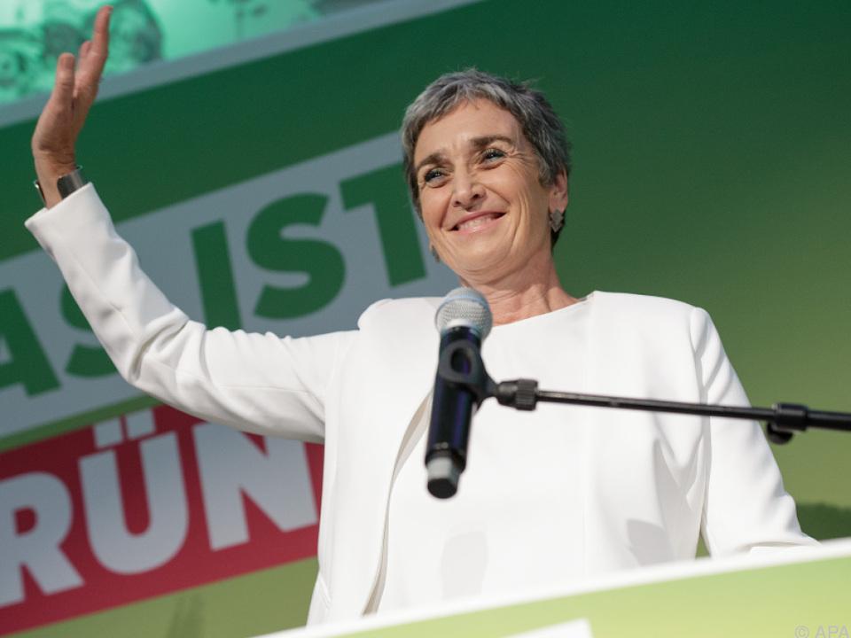 Ulrike Lunacek beim Wahlkampfauftakt der Grünen