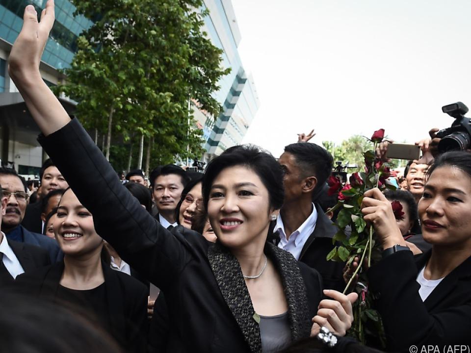 Yingluck Shinawatra hat sich bereits ins Ausland abgesetzt