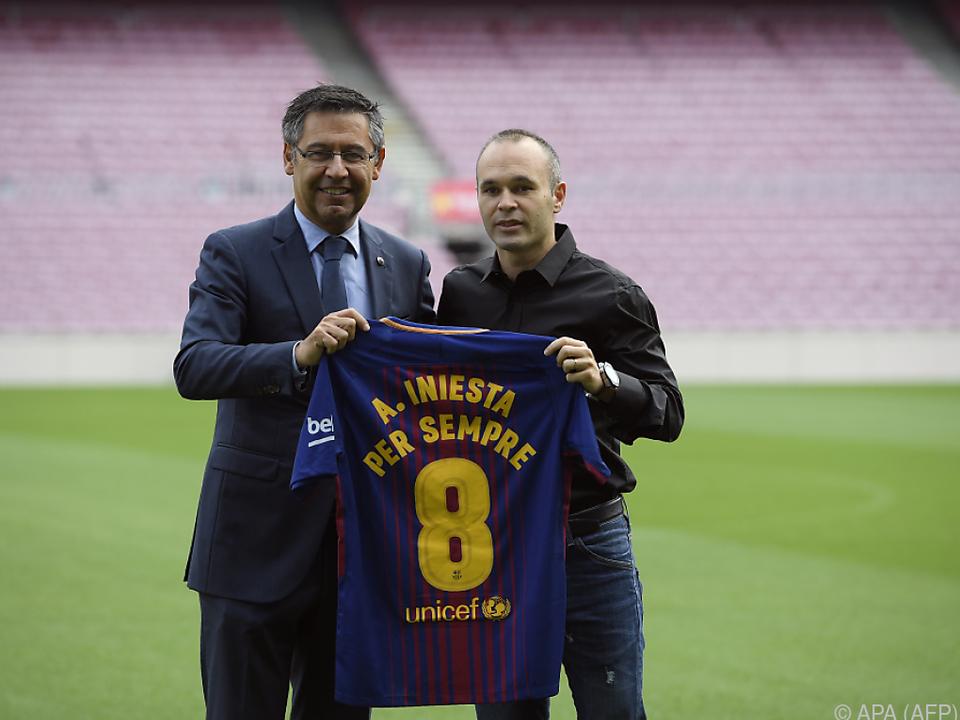Andres Iniesta bestimmt Zeitpunkt seines Rücktritts selbst