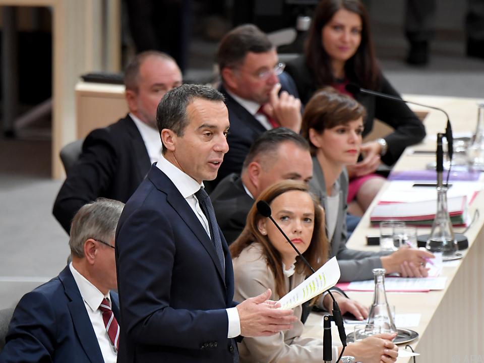 Bundeskanzler Kern hielt Rede im Nationalrat
