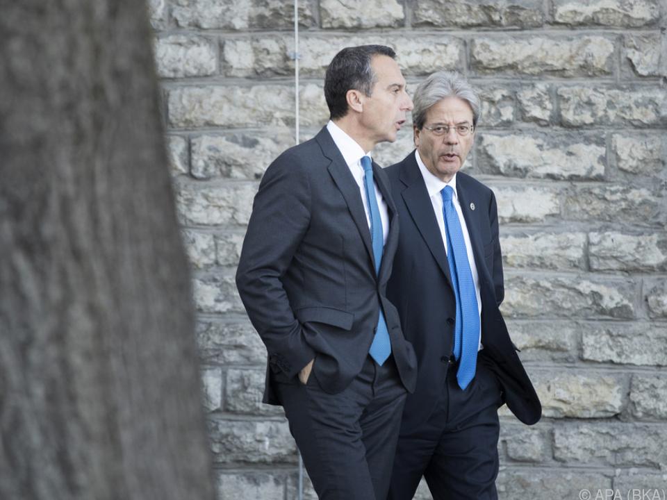 Bundeskanzler Kern mit dem italienischen Premier Gentiloni