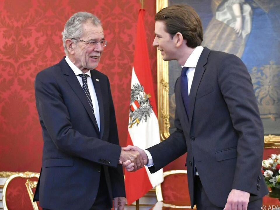 Bundespräsident Van der Bellen empfing ÖVP-Chef Kurz