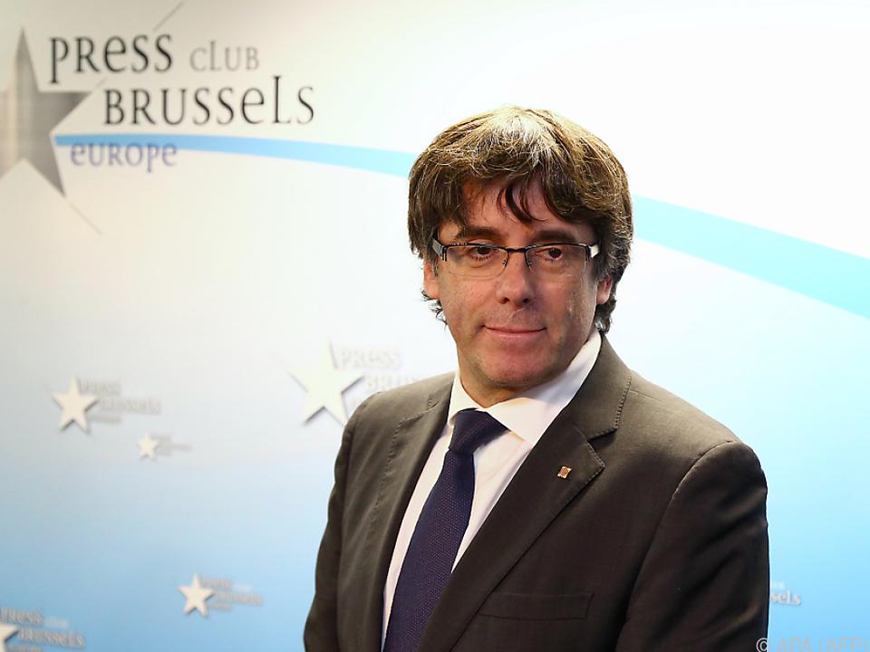 Carles Puigdemont in Brüssel