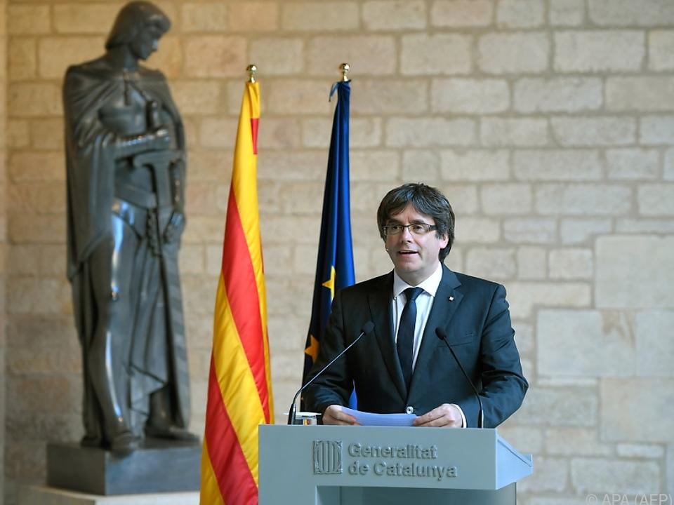 Carles Puigdemont will weiter Unabhängigkeit anstreben