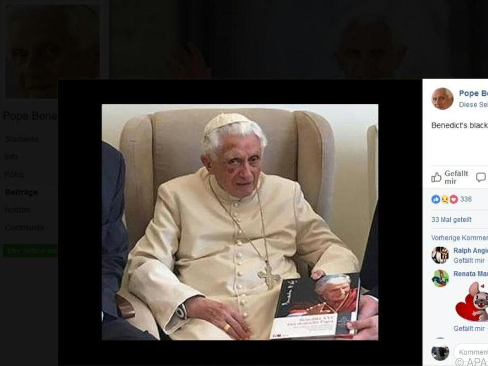 Der frühere Papst hat seinen Humor nicht verloren, wurde berichtet