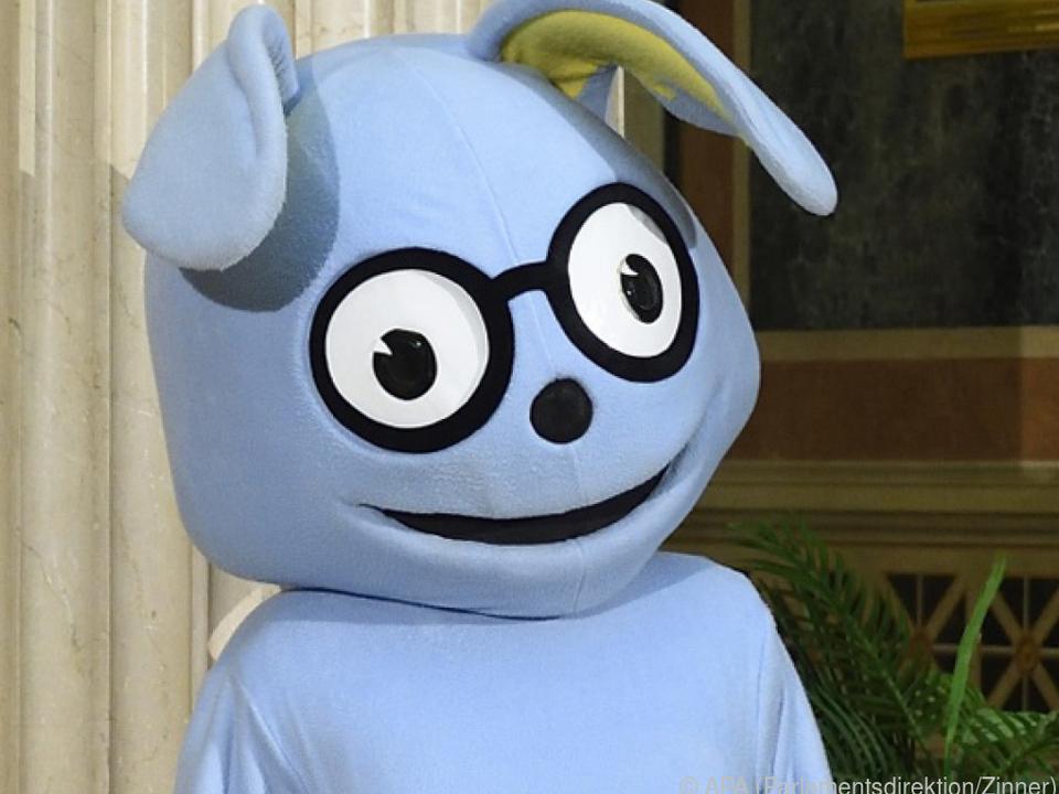 Der hellblaue Hase Lesko sorgte für Aufsehen