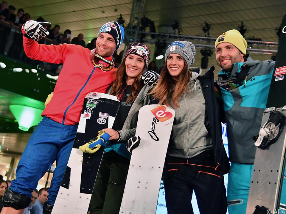 Die Snowboarder freuen sich auf das Heimspiel