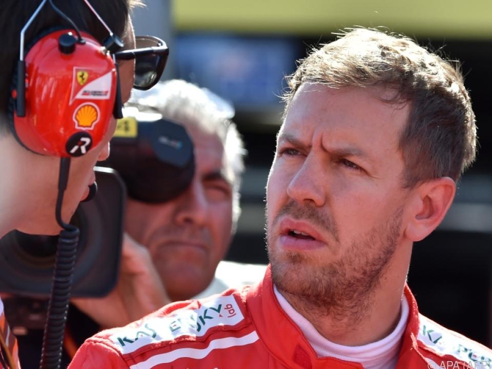 Enttäuschung bei Vettel und Ferrari