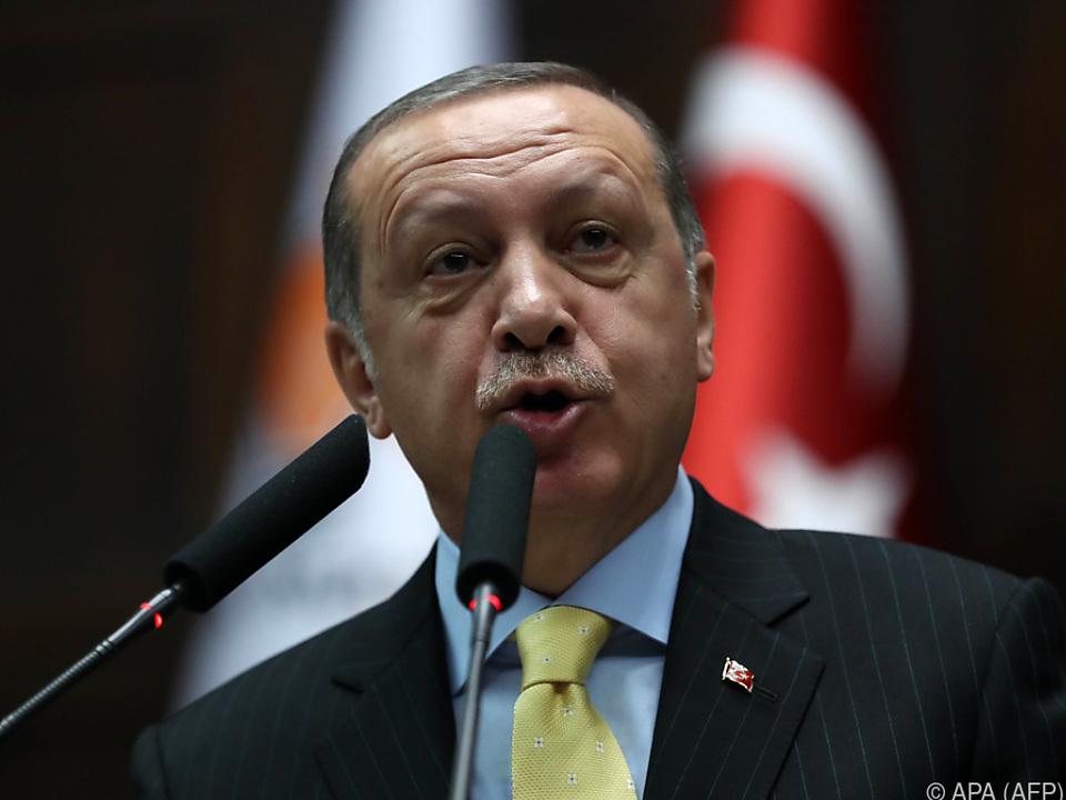 Erdogan bei seiner Rede in Ankara