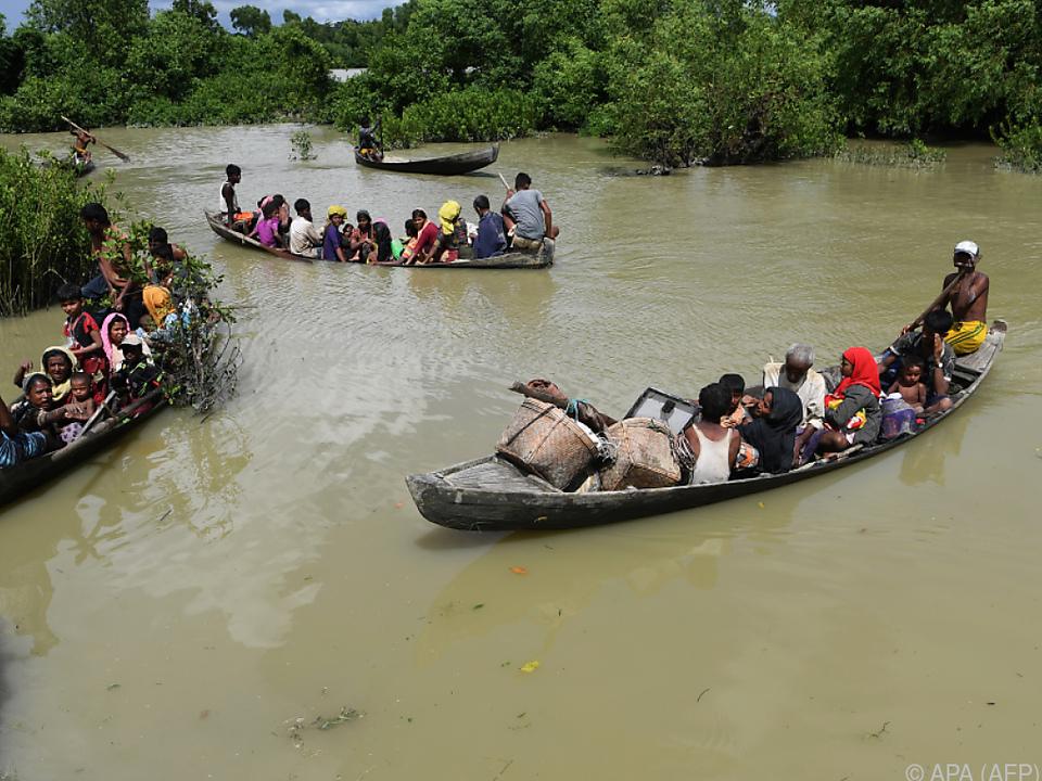 Flüchtlingsboot kenterte auf Grenzfluss zwischen Myanmar und Bangladesch