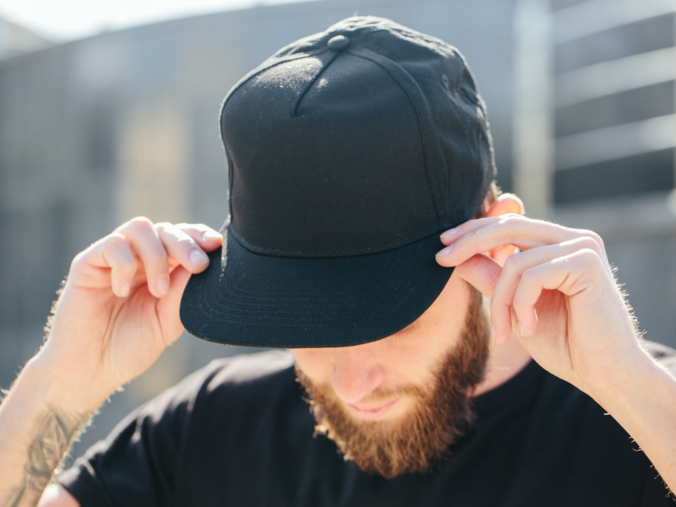 Jugend Hipster male model beard baseball cap