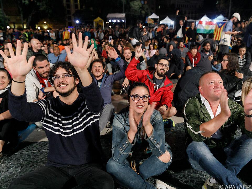 Freude am Placa de Catalunya