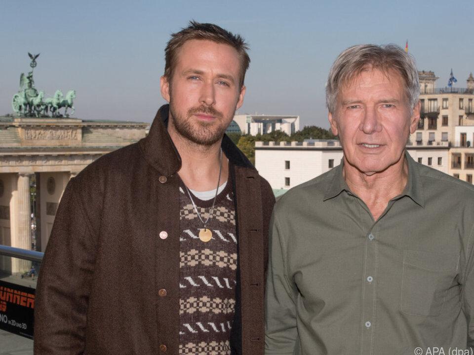 Harrison Ford und Ryan Gosling kommen ohne Glanz und Pomp zur Premiere