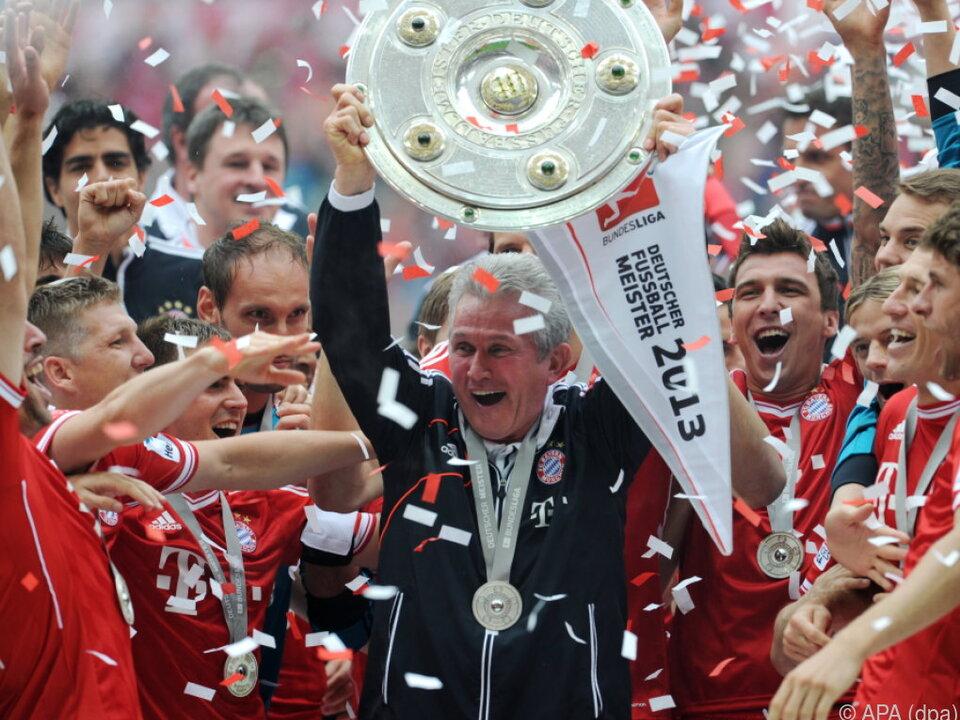 Heynckes holte mit Bayern 2013 das Triple