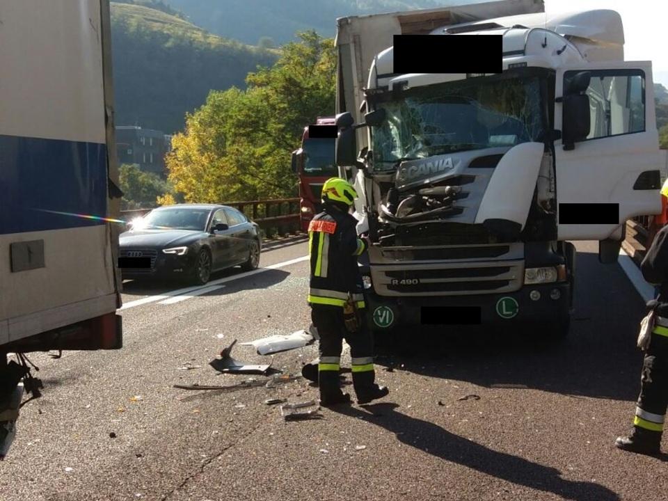 Freiwillige Feuerwehr Kardaun-Karneid Unfall A22