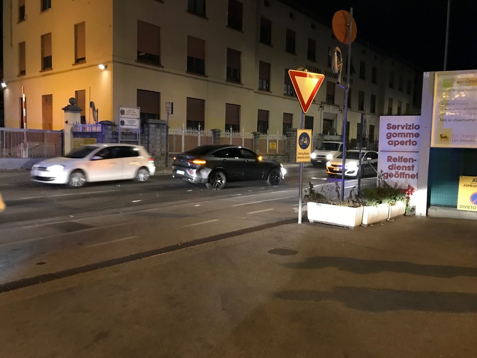 Unfall Vittorio-Veneto-Straße