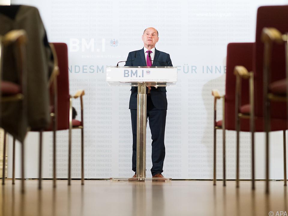 Innenminister Sobotka verkündete das vorläufige Gesamtergebnis