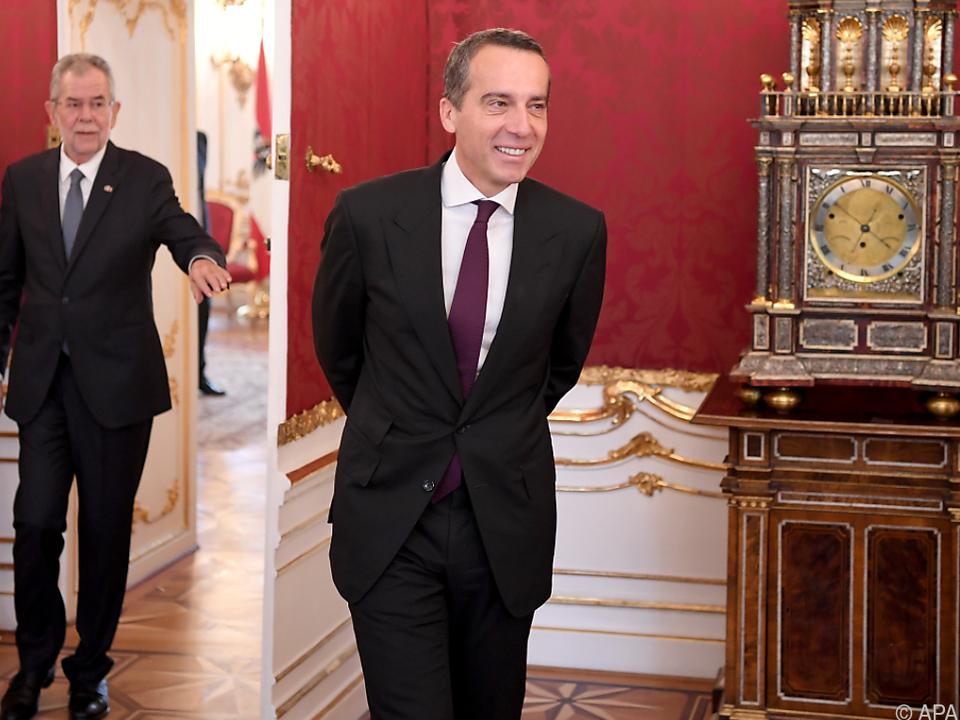 Kern traf sich zu Gespräch mit Bundespräsident Van der Bellen