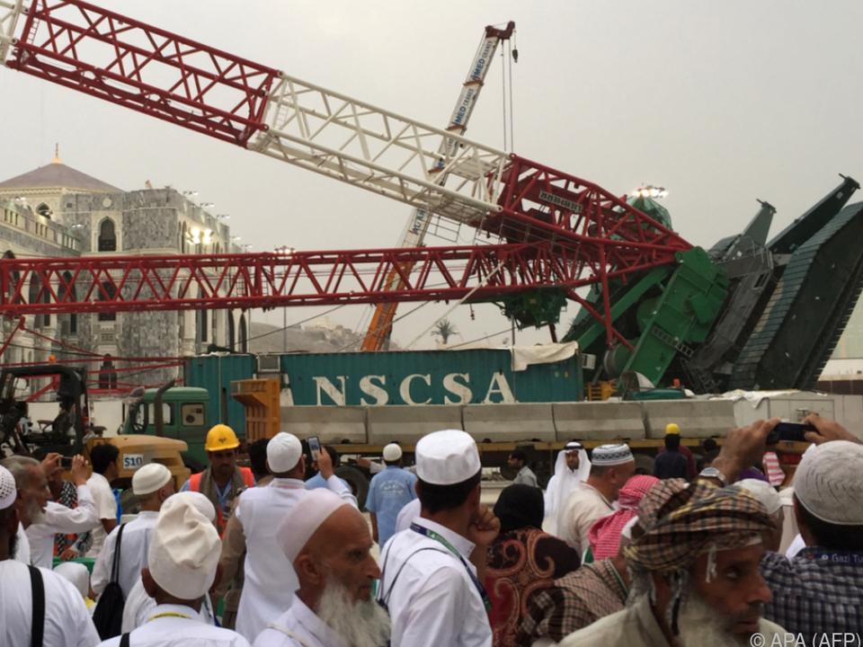 Kran-Unglück kostete 2015 in Mekka 110 Menschen das Leben
