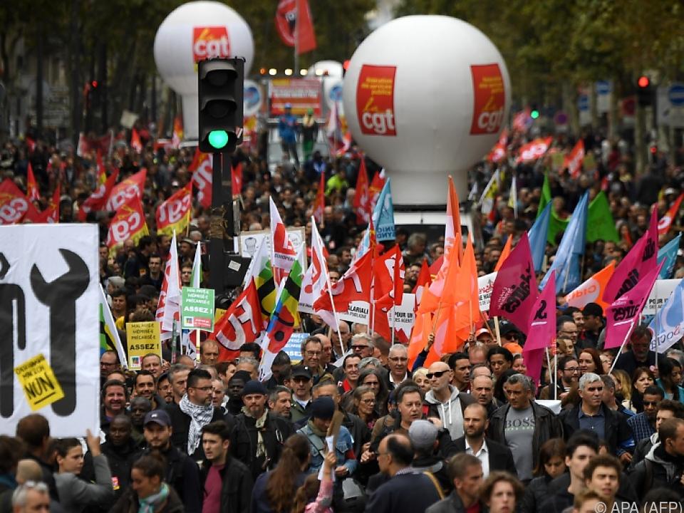 Landesweit gab es in Frankreich Demonstrationen