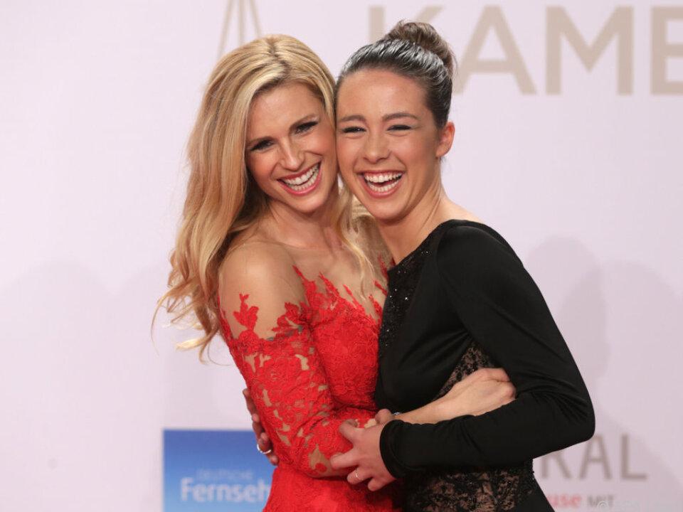 Michelle Hunziker und ihre Tochter Aurora