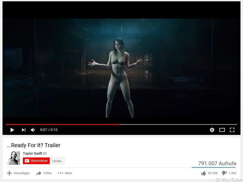 Aufregung im Netz um scheinbar nackte Taylor Swift