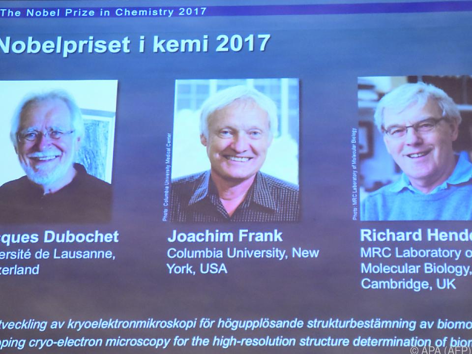 Nobelpreisträger aus  der Schweiz, den US und Großbritannien