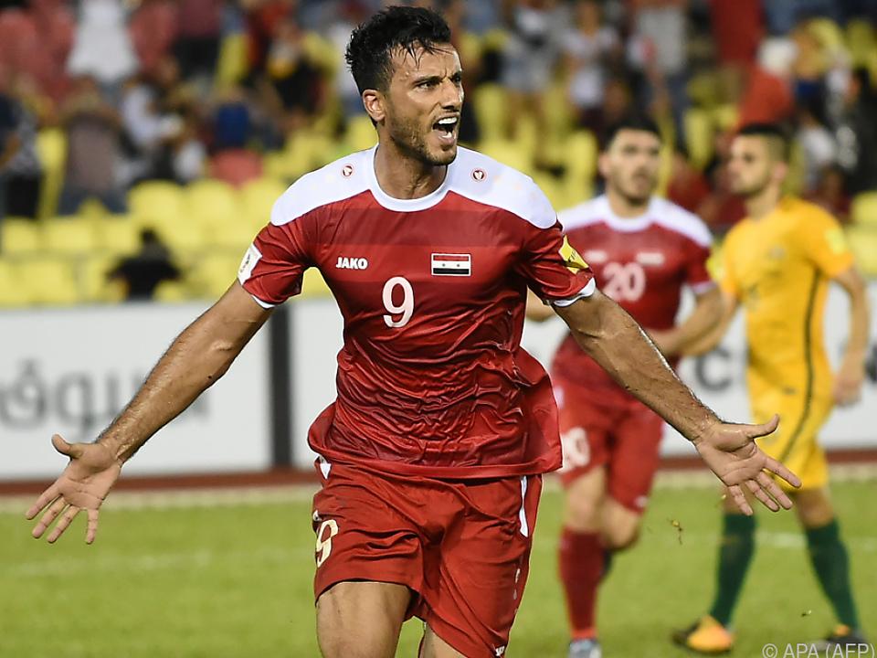 Omar Alsomah erzielte den Ausgleich für Syrien per Elfmeter