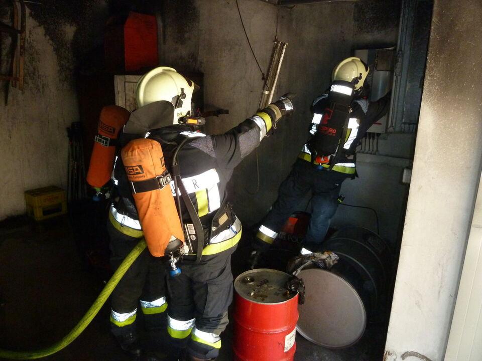 Garagenbrand Freiwillige Feuerwehr Auer