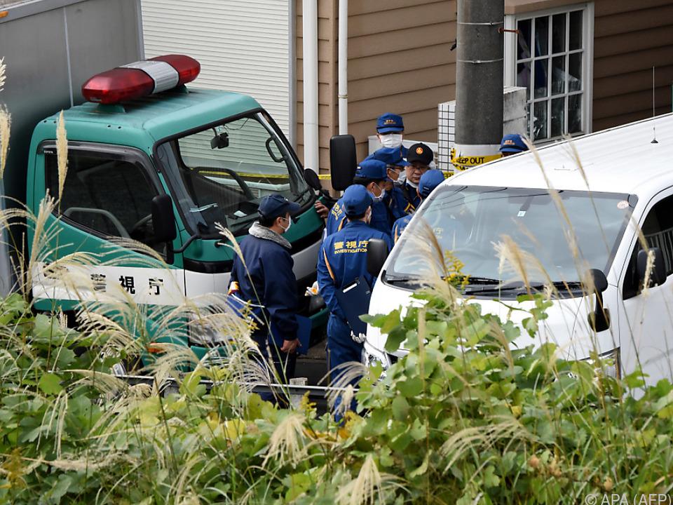 Polizei am Ort des grausigen Fundes