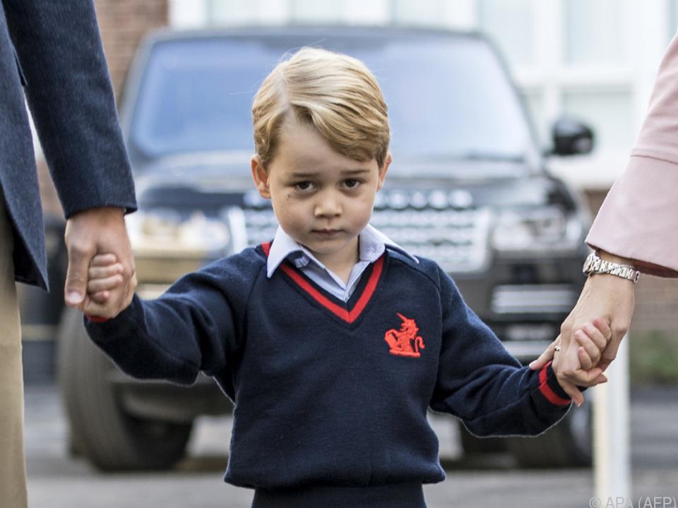 Prinz George geht seit kurzem in die Schule