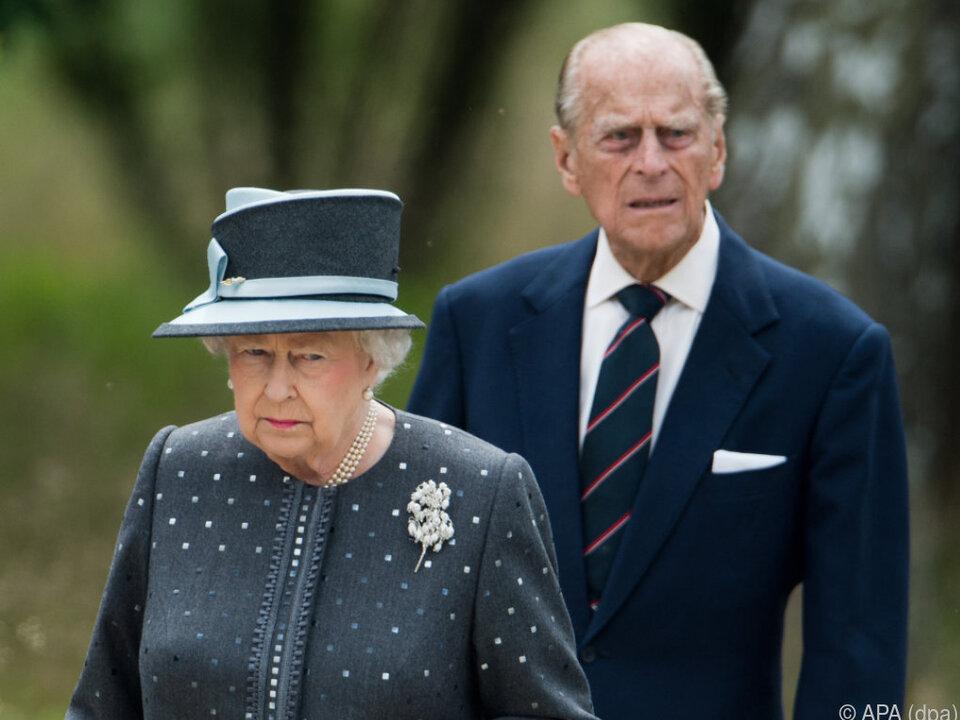 Prinz Philip an der Seite der Queen