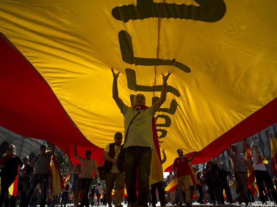 Proteste gegen eine katalonische Unabhängigkeit