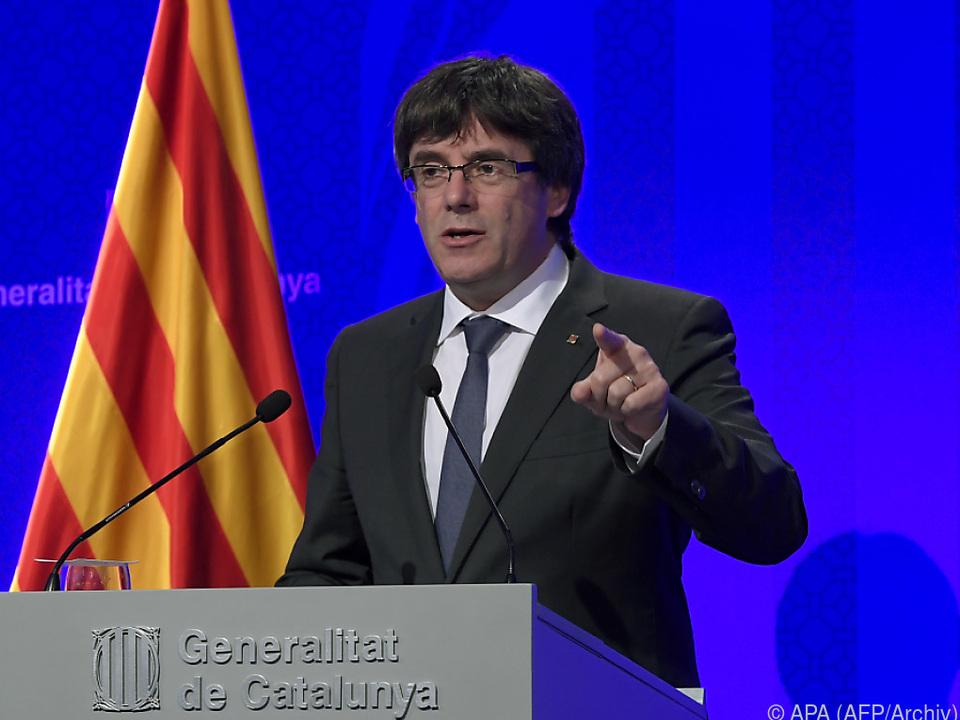 Regionalpräsident Carles Puigdemont