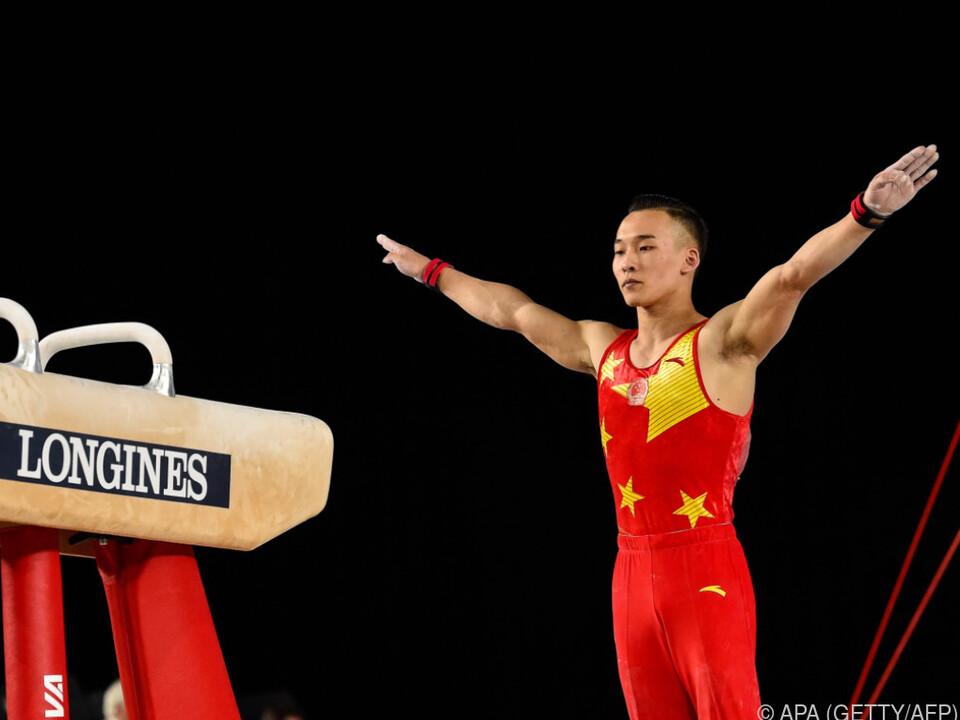 Ruoteng Xiao überholte Führenden am letzten Gerät