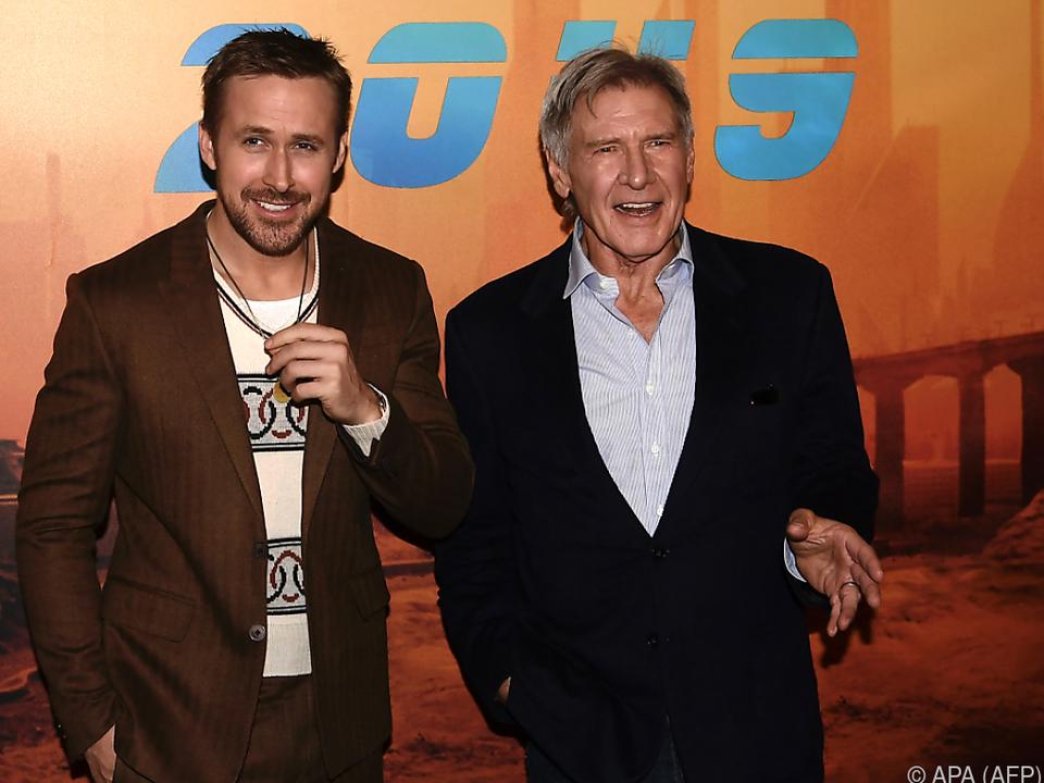 Ryan Gosling und Harrison Ford haben viel Spaß