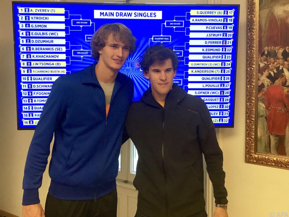 Topstars Alexander Zverev und Dominic Thiem