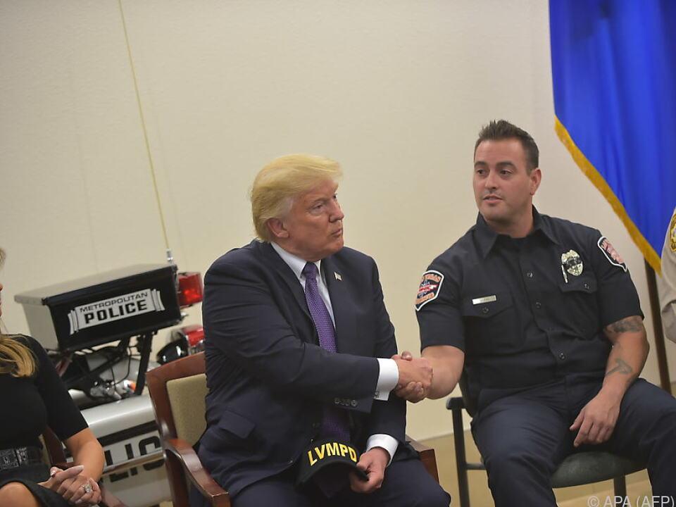 Trump bedankte sich bei Helfern