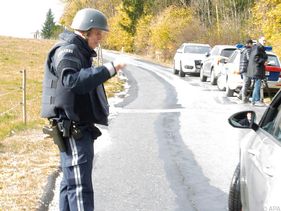 Wagenkontrolle durch die Polizei in Stiwoll