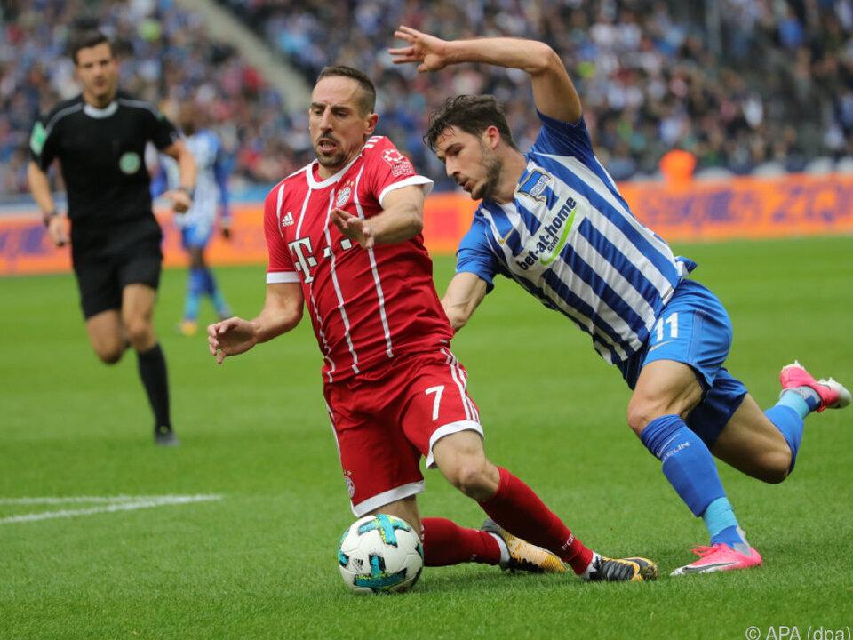 Wieder nur ein Punkt für die Bayern - Ribery verletzt