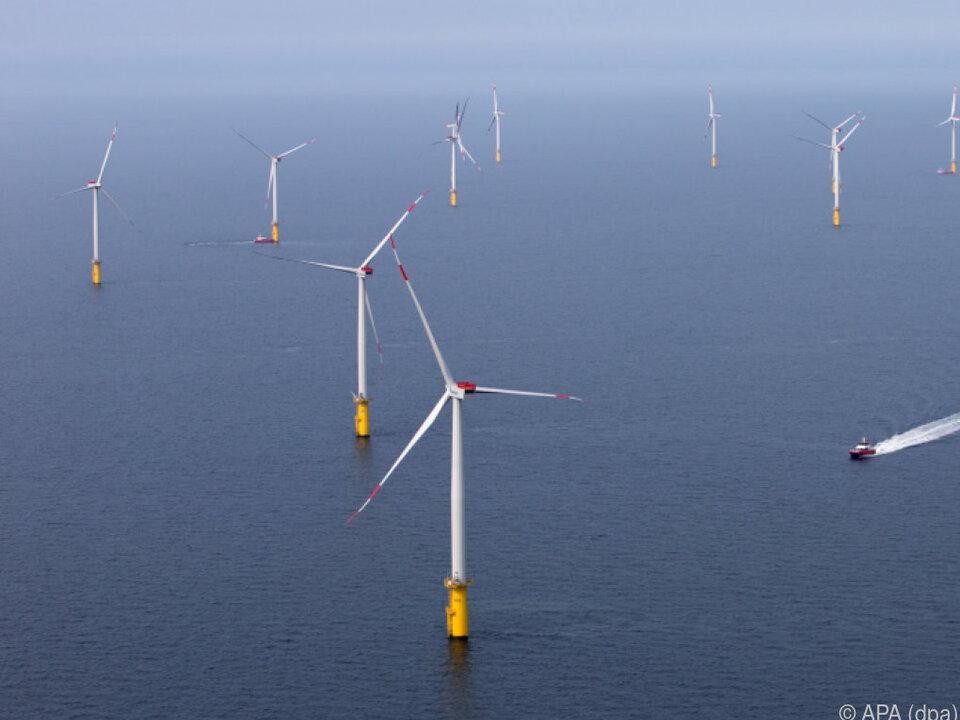 Windparks auf offenem Meer könnte die Zukunft gehören