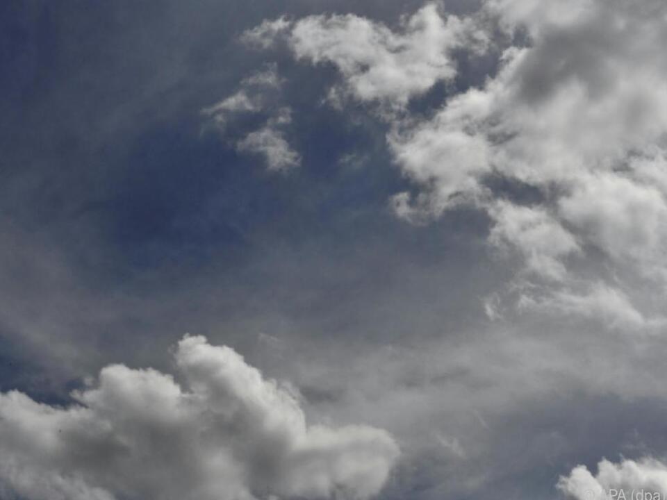Wolken und Regen an der Tagesordnung