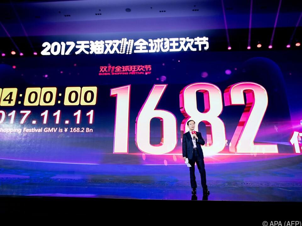 Alibaba machte in 24 Stunden Gesamtumsatz von 21,7 Milliarden Euro