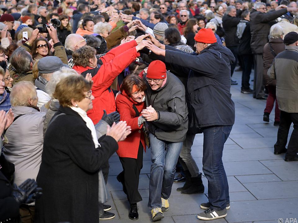 Am Stephansplatz wurde getanzt