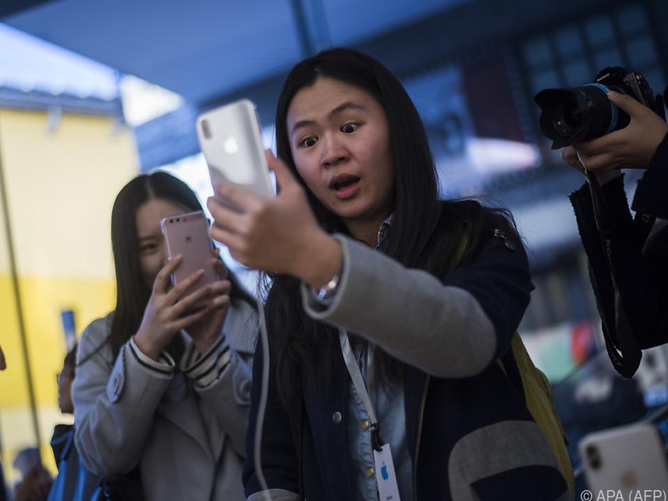 Ansturm auf Apple-Stores in China