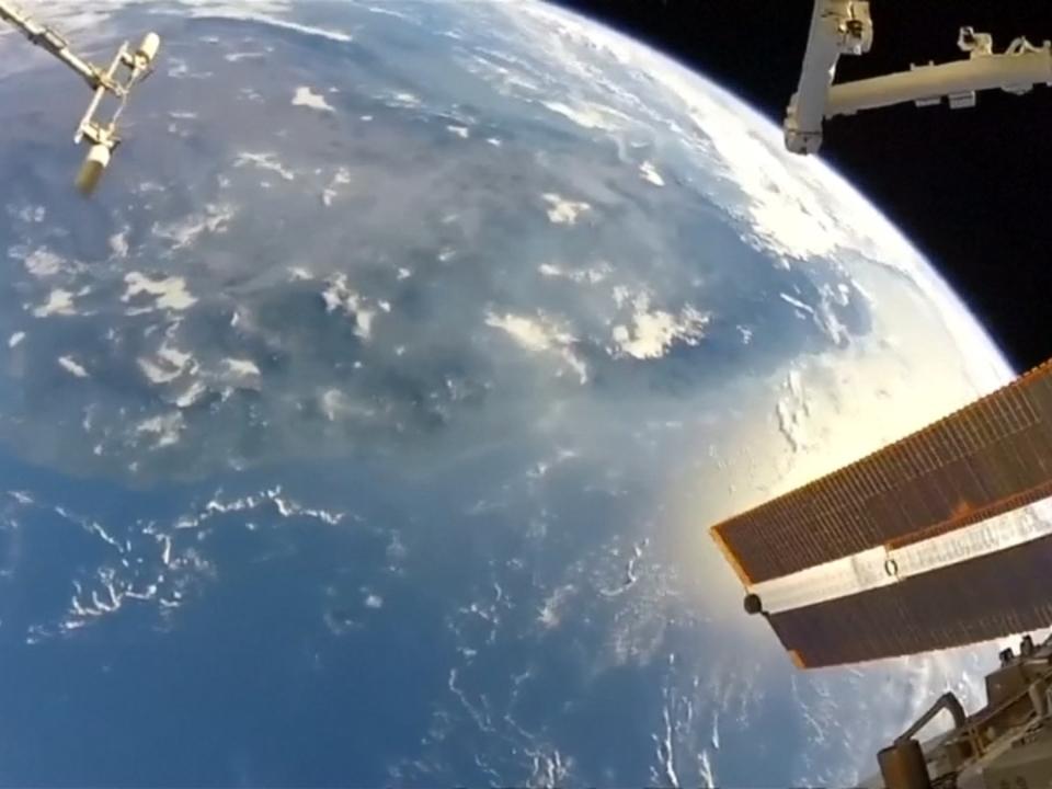 Blick auf Planet Erde