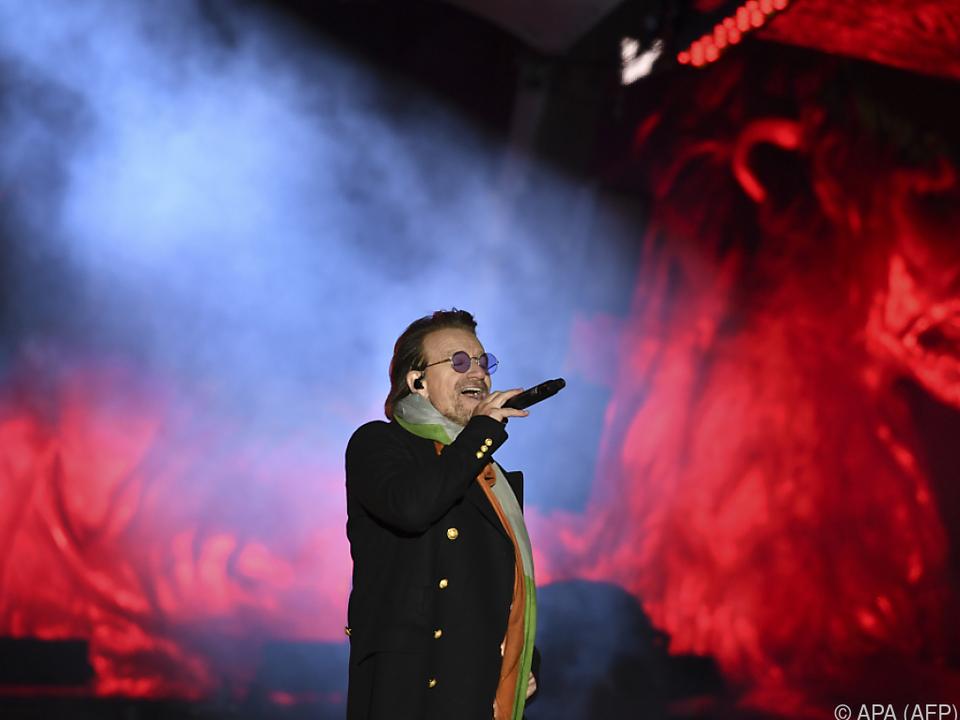 Bono rockte am Trafalgar Square in London