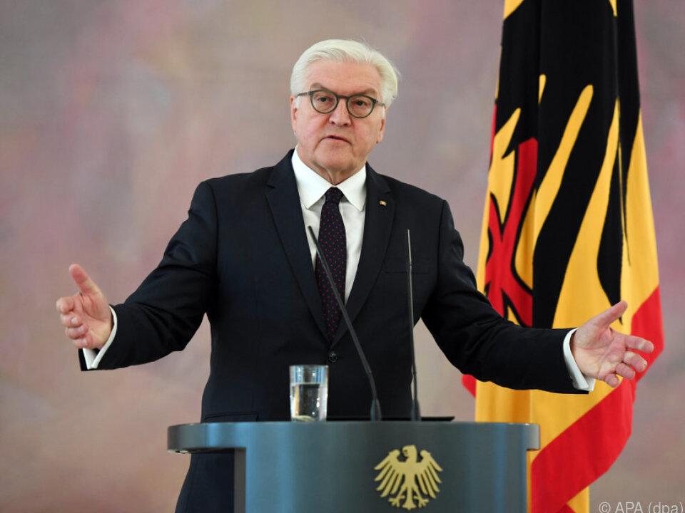 Bundespräsident Frank-Walter Steinmeier möchte vermitteln